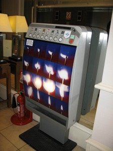 A cigarette Machine in May's Dundee hotel that she found very amusing (they don't come like that in the states!)