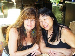 may and me at the beginning of our show