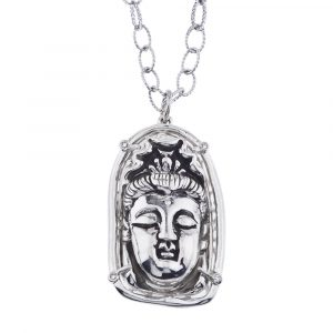 Buddha Pendant in Sterling Silver