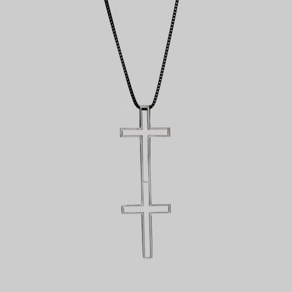 Sterling Silver Double Cross